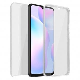 Schutzhülle für Xiaomi Redmi 9A, Vorder- + Rückseite ? Transparent