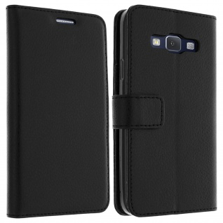 Flip-Schutzhülle mit Standfunktion für Samsung Galaxy A3 - Schwarz