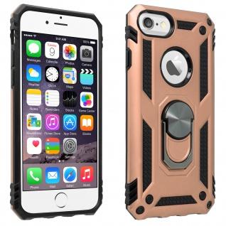 Hybrid Handyhülle mit Ring Halterung für Apple iPhone 6/6S/7/8 - Rosegold