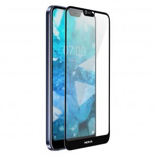 Bruchsichere Glas-Displayschutzfolie, Full Cover für Nokia 7.1 - Akashi