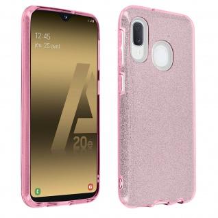 Schutzhülle, Glitter Case für Samsung Galaxy A20e, shiny & girly Hülle - Rosa