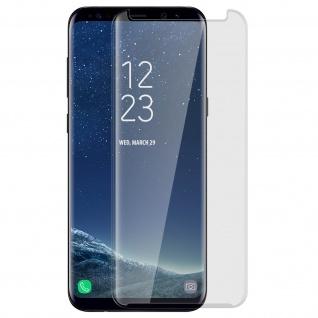 Displayschutzfolie mit abgerundeten Kanten + Rand Transparent Samsung Galaxy S8
