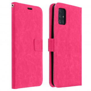 Flip Cover Stand Case Brieftasche & Standfunktion Samsung Galaxy A51 - Rosa