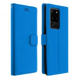 Samsung Galaxy S20 Ultra Flip-Cover mit Kartenfächern & Standfunktion - Blau