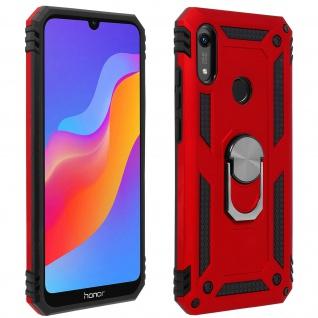Hybrid Handyhülle mit Ring Halterung für Huawei Y6 2019 - Rot