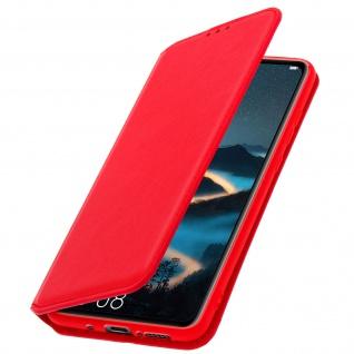Flip Kunstleder Cover Geldbörse Classic Edition für Huawei Mate 20 - Rot
