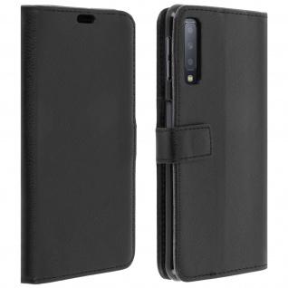Samsung Galaxy A7 2018 Flip-Cover mit Kartenfächern & Standfunktion - Schwarz