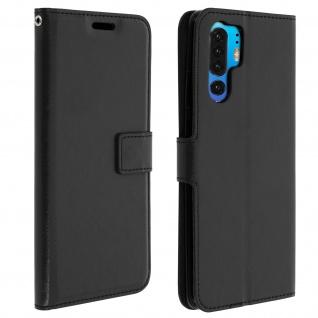 Flip Stand Cover Brieftasche & Standfunktion für Huawei P30 Pro - Schwarz