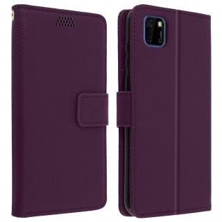 Huawei Y5p Flip-Cover mit Kartenfächern & Standfunktion - Violett