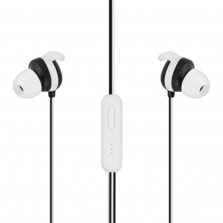 Setty Sport in-ear Kopfhörer mit 3.5mm Klinkenstecker und Mikrofon ? Weiß