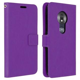 Flip Stand Cover Brieftasche & Standfunktion für Motorola Moto G7 Play - Violett