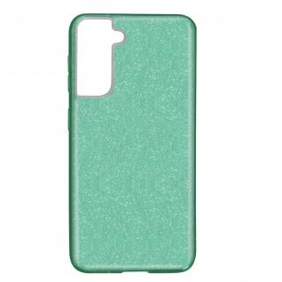 Schutzhülle, Glitter Case für Samsung Galaxy S21, shiny & girly Hülle â€? Grün
