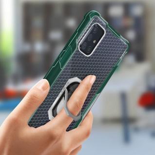 Hybrid Handyhülle mit Ring Halterung für Galaxy A51 - Grün - Vorschau 3