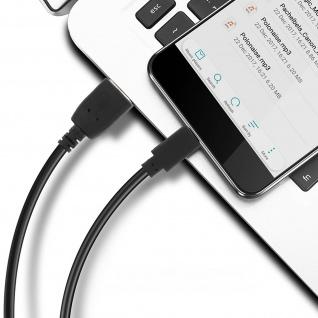 USB 2.0 Micro-USB Ladekabel, Quick Charge Aufladen & Sync. 1.2 m ? Schwarz - Vorschau 3