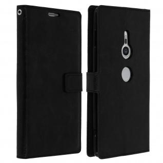 Flip Cover Stand Case Brieftasche & Standfunktion für Sony Xperia XZ2 - Schwarz