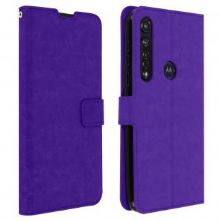 Flip Stand Case Brieftasche & Standfunktion für Moto G8 Plus - Violett