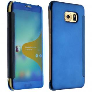 Blaue Clear View Schutzhülle für Samsung Galaxy S6 Edge Plus