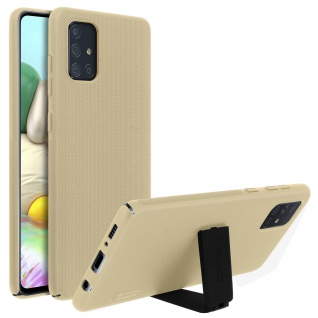 Nillkin Super Frosted Shield Samsung Galaxy A71 Polycarbonat Handyhülle - Gold