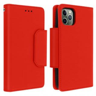 Soft Touch Klappetui mit abnehmbarer Hülle iPhone 11 Pro, Geldbörse ? Rot