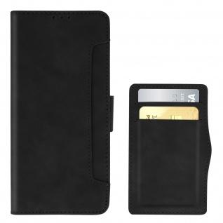 Realme 6i Klappetui mit Geldbörse + abnehmbares Kartenfach ? Schwarz