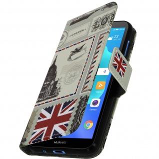 Flip Book Cover, Klappetui für Huawei Y5 2018 /Honor 7S, UK& London Design