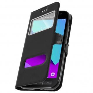 Samsung Galaxy Xcover 4 / 4S Flip-Schutzhülle mit Doppelfenster - Schwarz