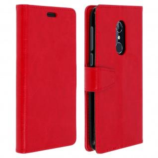 Flip Cover Stand Case Brieftasche & Standfunktion für Alcatel 3 - Rot