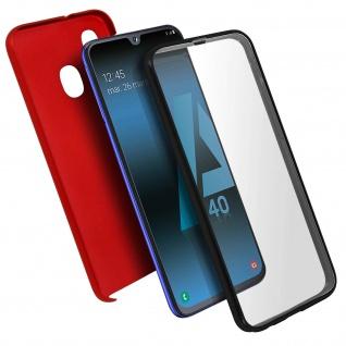 Schutzhülle für Samsung Galaxy A40, Vorder- + Rückseite - Rot