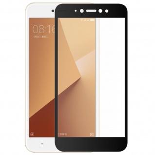 Bruchsichere 9H Glas Displayschutzfolie für Xiaomi Redmi Note 5A - Rand Schwarz