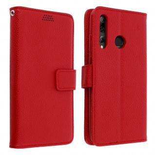 Huawei P Smart plus 2019 Flip-Cover mit Kartenfächern & Standfunktion - Rot
