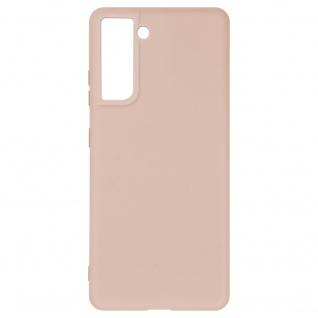 Halbsteife Silikon Handyhülle für Samsung Galaxy S21 Plus, Soft Touch ? Rosa