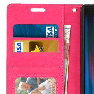 Flip Stand Cover Brieftasche & Standfunktion für Sony Xperia 10 - Rosa - Vorschau 5