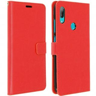 Flip Stand Cover Brieftasche & Standfunktion für Huawei Y7 2019 - Rot