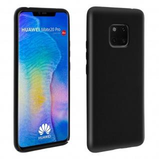Huawei Mate 20 Pro Soft Touch kratzfeste Silikonhülle, soft case - Schwarz