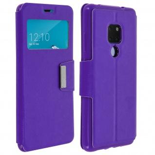 Klappetui, Hülle mit Sichtfenster & Standfunktion für Huawei Mate 20 - Violett