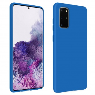 Halbsteife Silikon Handyhülle Samsung Galaxy S20 Plus, Soft Touch - Blau