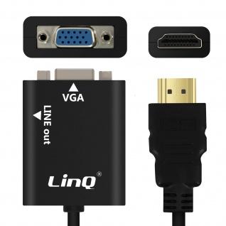 Audio- & Videokabel HDMI/VGA + 3.5mm Klinkenkabel by LinQ ? Schwarz
