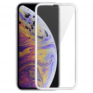 Displayschutzfolie aus gehärtetem Glas für iPhone XS Max, 0.33mm Folie - Weiß