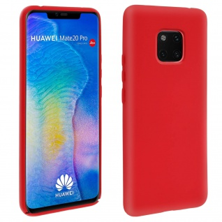 Huawei Mate 20 Pro Soft Touch kratzfeste Silikonhülle, soft case - Rot