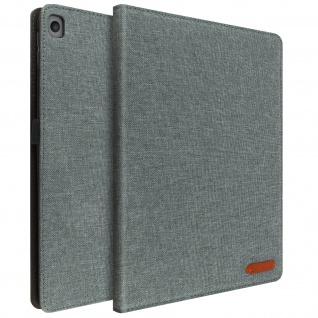Apple iPad 10.2 2021 / 2020 / 2019 Stoffhülle mit Standfunktion ? Grau