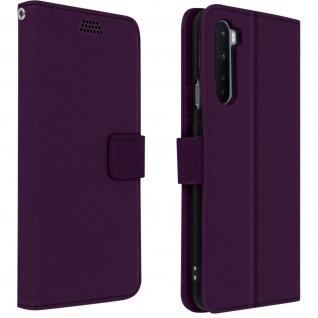 OnePlus Nord Flip-Cover mit Kartenfächern & Standfunktion - Violett