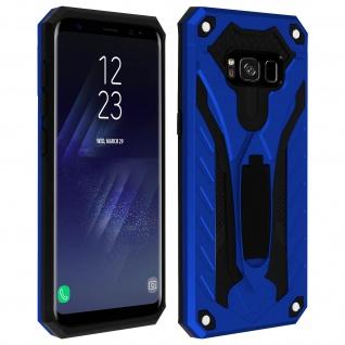Samsung Galaxy S8 Hybrid stoßfeste Schutzhülle mit Ständer - Blau