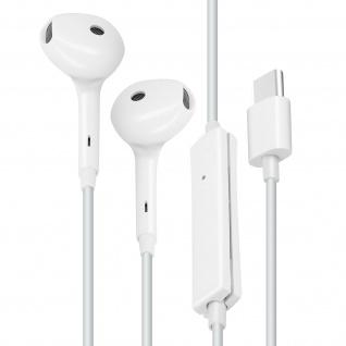 Original Oppo USB-C kabelgebundene Kopfhörer mit Mikrofon - Weiß