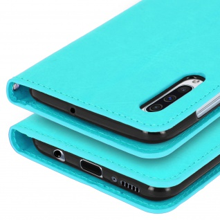 Flip Stand Cover Brieftasche & Standfunktion für Samsung Galaxy A50 - Türkisblau - Vorschau 5