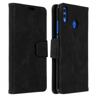 Flip Stand Cover Brieftasche & Standfunktion Huawei Honor 8X - Schwarz