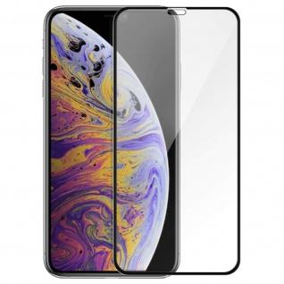 Premium Panzerglas Schutzfolie für Apple iPhone XS Max - Rand Schwarz