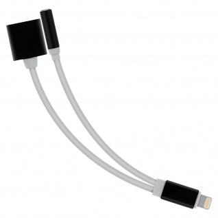 Apple Lightning auf Lightning / 3, 5mm Buchse Audio- & Ladeadapter - Weiß