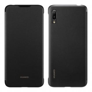 Original Huawei Wallet Cover, Klapphülle für Huawei Y6 2019 - Schwarz