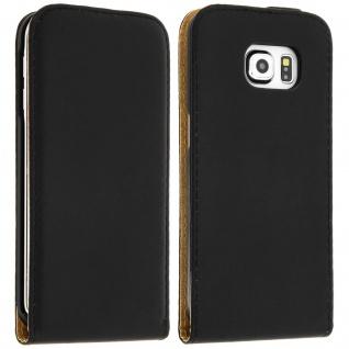 Vertikale Flip-Schutzhülle ultradünn für Samsung Galaxy S6 Edge - Schwarz