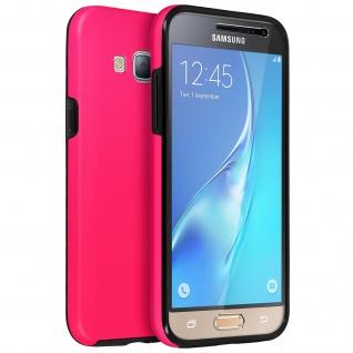 Schutzhülle für Samsung Galaxy J3, Vorder- + Rückseite - Rosa